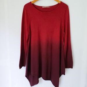 Soft Surroundings Ombre Handkerchief Hem Sweater